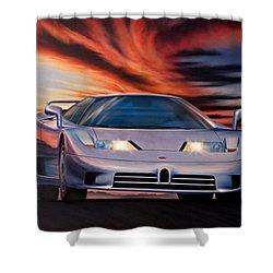 Bugatti Shower Curtain by Garry Walton