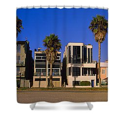 Buildings In A City, Venice Beach, City Shower Curtain by Panoramic Images