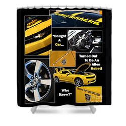 Bumble Bee-robot - Poster Shower Curtain by Gary Gingrich Galleries