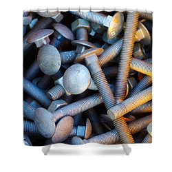 Bunch Of Screws Shower Curtain by Carlos Caetano