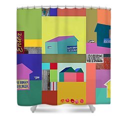 Burger Joint #1 Shower Curtain by Elena Nosyreva