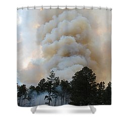 Shower Curtain featuring the photograph Burnout Near Song Dog Road by Bill Gabbert