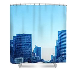 Business Skyscrapers  Paris France Shower Curtain by Michal Bednarek