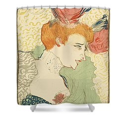Bust Of Mlle. Marcelle Lender Shower Curtain by Toulouse-Lautrec