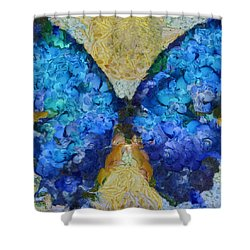 Butterfly Art - D11bb Shower Curtain by Variance Collections
