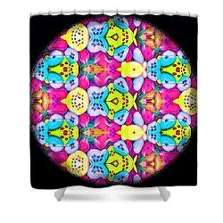 Butterfly Mandala Shower Curtain by Karen Buford