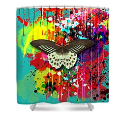 Butterfly Montage Shower Curtain by Gary Grayson