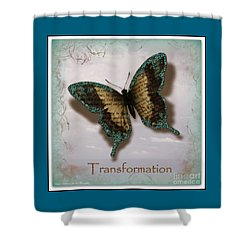 Butterfly Of Transformation Shower Curtain by Bobbee Rickard