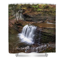 Buttermilk Creek Falls Shower Curtain by Mark Papke