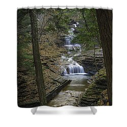 Buttermilk Falls In Autumn IIi Shower Curtain by Michele Steffey