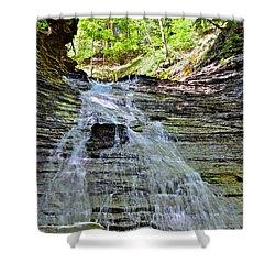 Butternut Falls Shower Curtain by Frozen in Time Fine Art Photography