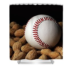 Buy Me Some Peanuts - Baseball - Nuts - Snack - Sport Shower Curtain by Andee Design