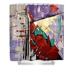 By The Blood Of Jesus Shower Curtain by Anthony Falbo
