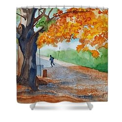 By The Rideau Canal Shower Curtain by Lise PICHE