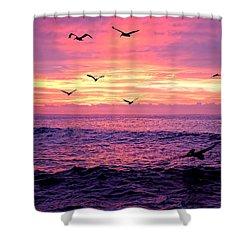 Cabo San Lucas Sunrise Shower Curtain by Marcia Colelli