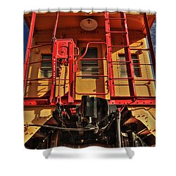 Caboose Shower Curtain by James Eddy