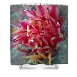 Cactus Blossom 6 Shower Curtain by Xueling Zou