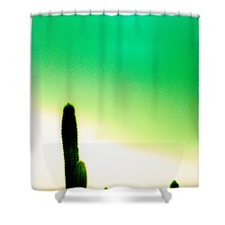 Cactus In The Morning Shower Curtain by Yo Pedro