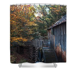 Cades Cove Mill Shower Curtain by Steve Gadomski
