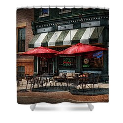 Cafe - Albany Ny - Mc Geary's Pub Shower Curtain by Mike Savad