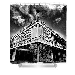 Cafe Moscow Berlin Shower Curtain by Andy Prendy