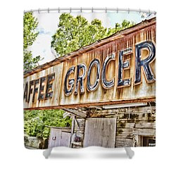 Caffee Grocery Shower Curtain by Scott Pellegrin