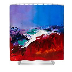 Call Of The Canyon Shower Curtain by Elise Palmigiani