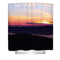 Call Of The Mountains Shower Curtain by Rachel Cohen