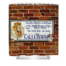Calle Borbo Shower Curtain by Susie Hoffpauir