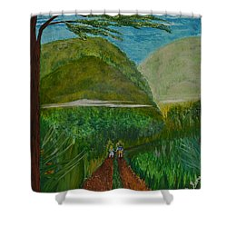 Called To The Mission Field Shower Curtain by Cassie Sears
