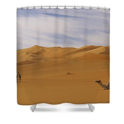 Camels Shower Curtain by Ivan Slosar