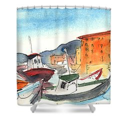 Camogli In Italy 02 Shower Curtain by Miki De Goodaboom