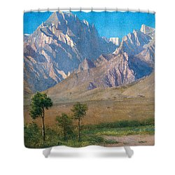 Camp Independence Colorado Shower Curtain by Albert Bierstadt