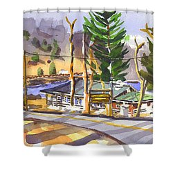 Camp Penuel At Lake Killarney Shower Curtain by Kip DeVore