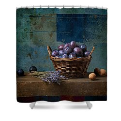 Campagnard - Rustic - S01obv Shower Curtain by Variance Collections