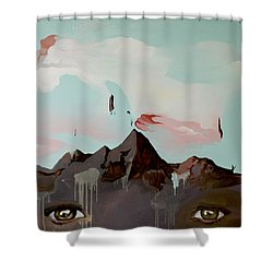 Can You See The Skull Shower Curtain by Joseph Demaree