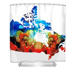 Canada - Canadian Map By Sharon Cummings Shower Curtain by Sharon Cummings