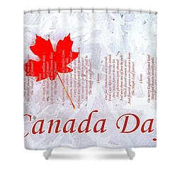 Canada Day .. The Maple Leaf Forever Shower Curtain by The Creative Minds Art and Photography