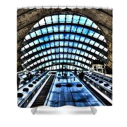 Canary Wharf Station Shower Curtain by David Pyatt