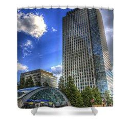 Canary Wharf Station London Shower Curtain by David Pyatt