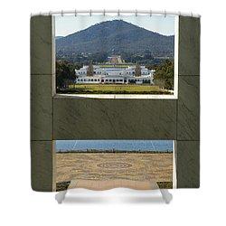 Canberra - Parliament House View Shower Curtain by Steven Ralser