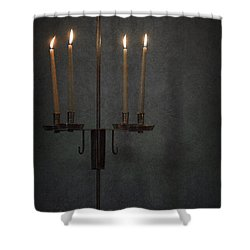 Candles In The Dark Shower Curtain by Margie Hurwich