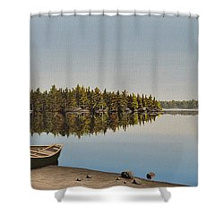 Canoe The Massassauga Shower Curtain by Kenneth M  Kirsch