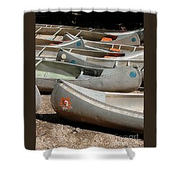 Canoes 143 Shower Curtain by Gary Gingrich Galleries