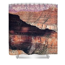 Canyon Layers Shower Curtain by Dave Bowman
