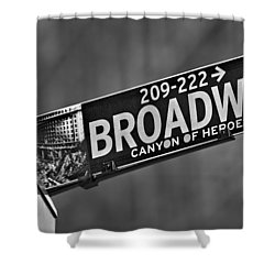 Canyon Of Heroes Shower Curtain by Susan Candelario
