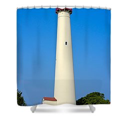 Cape May Lighthouse Shower Curtain by Anthony Sacco