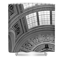 Capitol Architecture - Bw Shower Curtain by Jenny Hudson