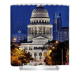 Capitol Of Texas Shower Curtain by Silvio Ligutti