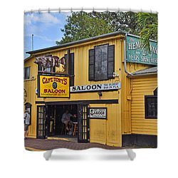 Captain Tony's Saloon Shower Curtain by Chris Thaxter
